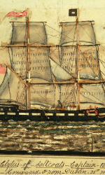The Clytus. Betsy's ship in a painting by Captain William Robertson of Saltcoats in 1911.