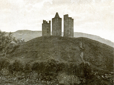Three Sisters with Cock-ma-Lane and Castle Hill in the background.