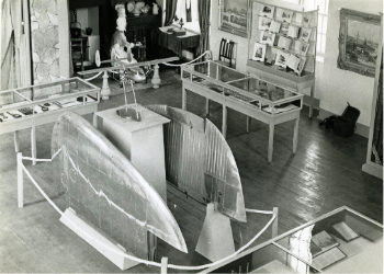 View of the main display gallery in the North Ayrshire Museum, 1960s.