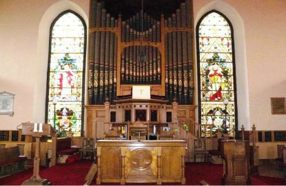 Kilwinning Old Parish Church interior (photo Old Parish Church website).