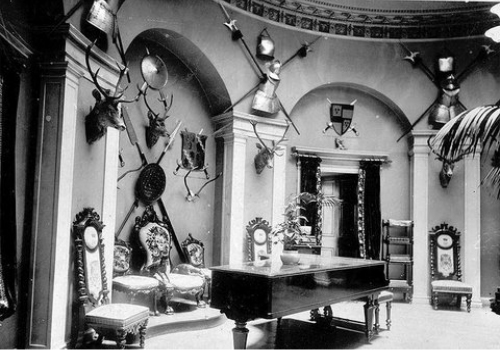 The entrance hall of Eglinton Castle.
