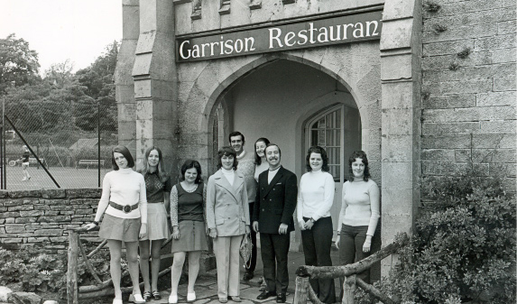 The Garrison Restaurant that opened in 1972 in what is now the library.