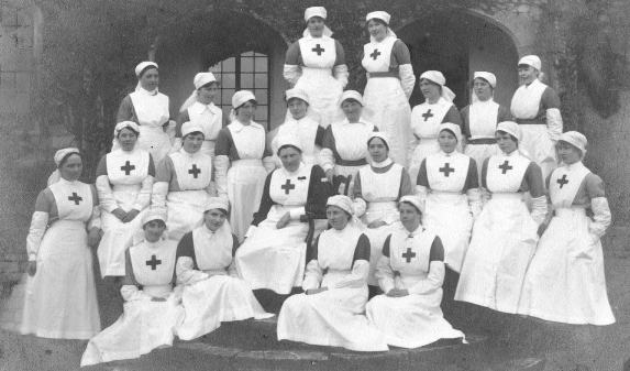Centre is Lady Margaret Macrae, sister of the Marquis of Bute, Commandant of the nurses. This was when the Garrison was used as a hospital during World War II.