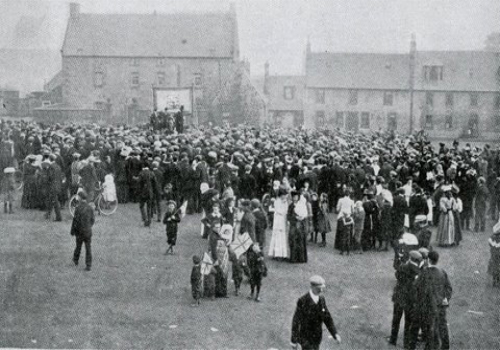 Sometimes political rallies were held on the Abbey Green.