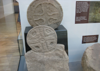 Gravemarkers from the early medieval period. Found at Kirkton and now on display at the Museum of the Cumbraes, Garrison House.