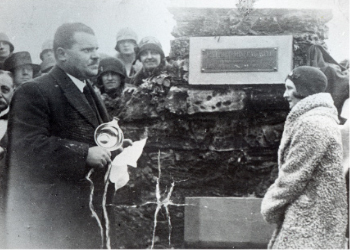 Opening of the Millport Mineral Well by Lady June, wife of Lord Inverclyde, in 1928.