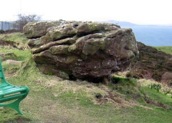 The Glead Stane at the top of the island.