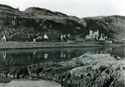 Little Cumbrae House and cottages as seen from Castle Island.
