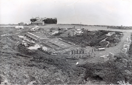 Building the Marine Station's hall of residence.