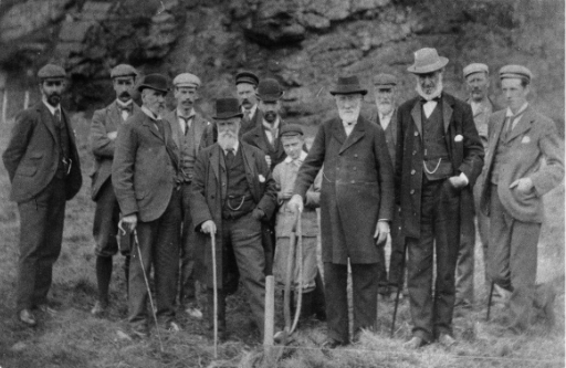 7th August 1896 Dr David Robertson cutting the first turf of the construction of the Marine Station.