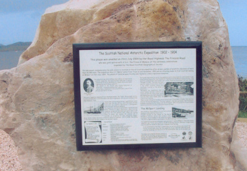 The Scotia plaque in-situ at the Marine Station.